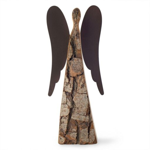 Natural wood angel figurine