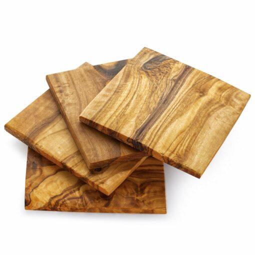 Wood Coasters Set, Set of 4 - Square