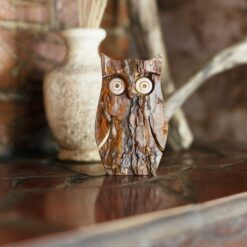 Owl Figurine for Home Decor Desk