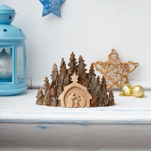 Rustic Nativity Scenery
