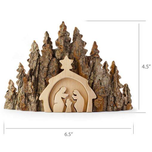 Rustic Nativity Scene Handmade