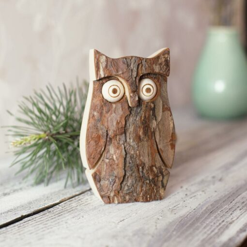 Owl Figurine on Table