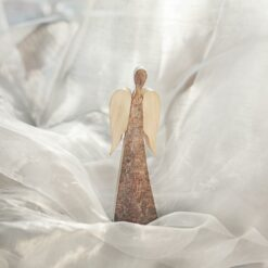 Rustic Wood Angel with Wings (Small)