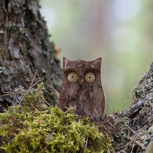 Owl Figurine and Tree