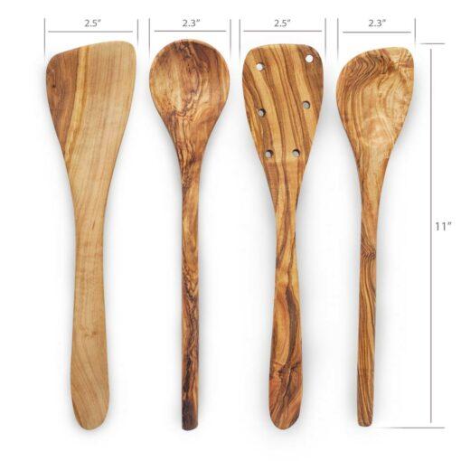 Wooden Kitchen Utensils Set for Cooking (4-Piece Set)