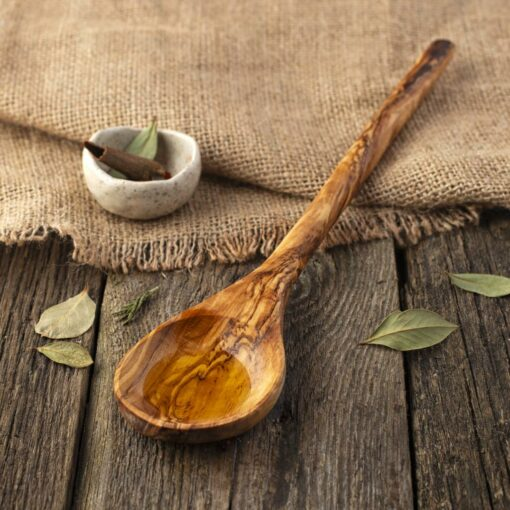 Round Wooden Cooking Spoons