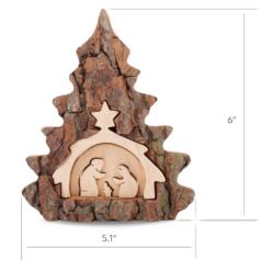 Wooden Christmas Nativity Scene Table Ornament