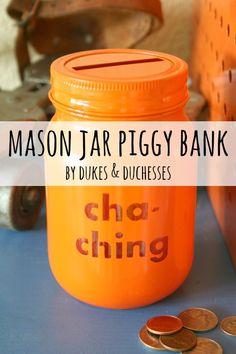 Mason Jar Piggy Banks