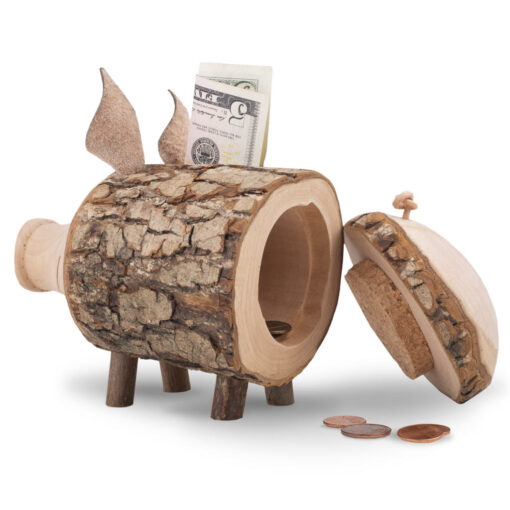 Wooden Piggy Bank – Large